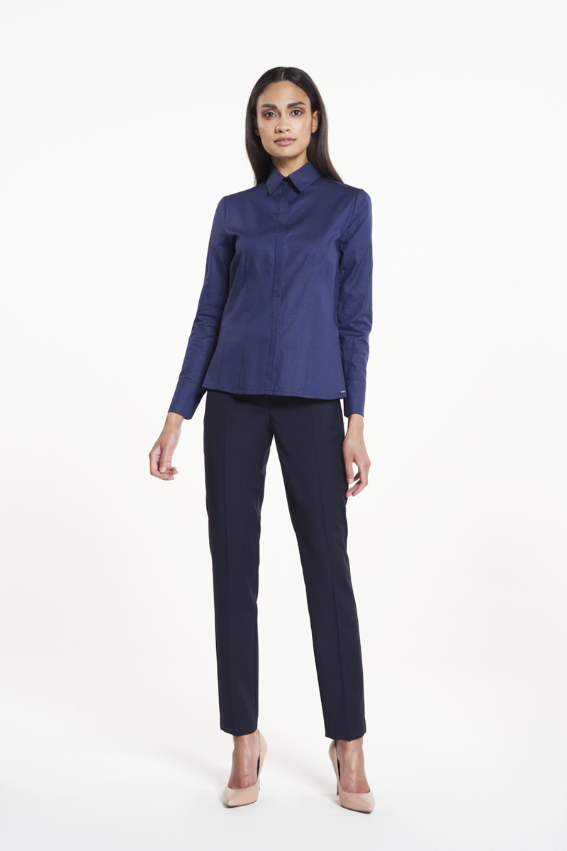 Linde Blouse Navy Stippen